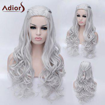 Adiors Long Braided Fluffy Wavy Party Synthetic Wig