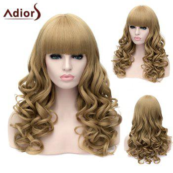 Adiors Neat Bang Long Fluffy Wavy Party Synthetic Wig