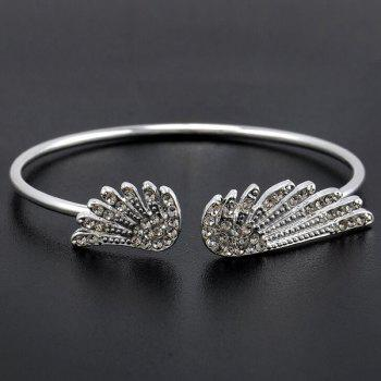Rhinestone Cuff Angel Wings Bracelet