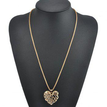 Heart Rhinestone Sweater Chain - GOLDEN GOLDEN