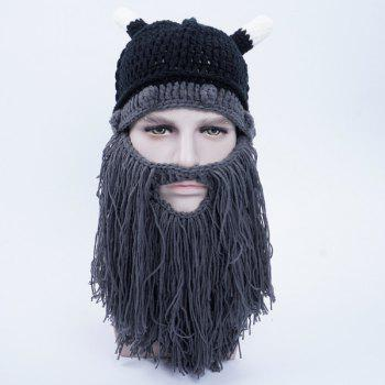 Faux Mustache Knitted Beanie Hat