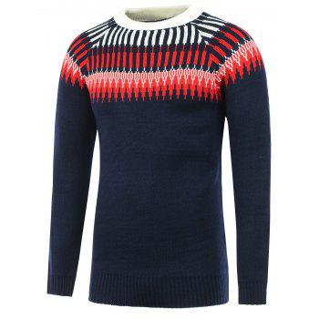 Crew Neck Raglan Sleeve Abstract Graphic Sweater