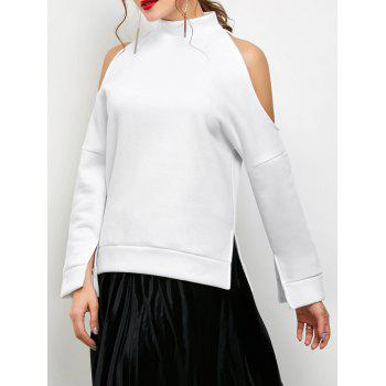 High Neck Cold Shoulder Sweatshirt