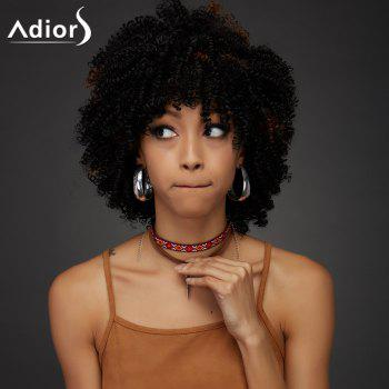 Adiors Synthetic Short Oblique Bang Towheaded Curly Wig