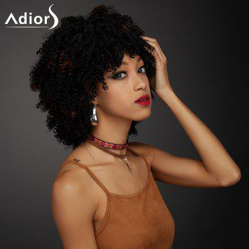 Adiors Synthetic Short Oblique Bang Towheaded Curly Wig - COLORMIX