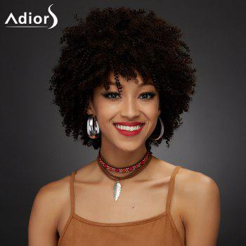 Adiors Synthetic Short Full Bang Towheaded Curly Wig - COLORMIX