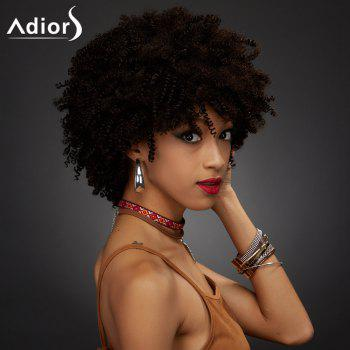 Adiors Synthetic Short Full Bang Towheaded Curly Wig
