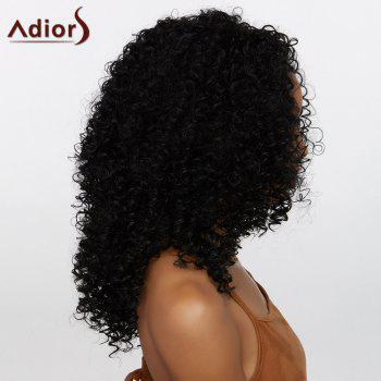 Adiors Towheaded Long Middle Part Curly Synthetic Wig - BLACK