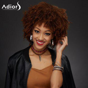 Adiors Synthetic Short Neat Bang Towheaded Curly Wig - COLORMIX