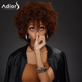 Adiors Synthetic Short Neat Bang Towheaded Curly Wig