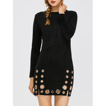 Eyelet Mini Bodycon Dress