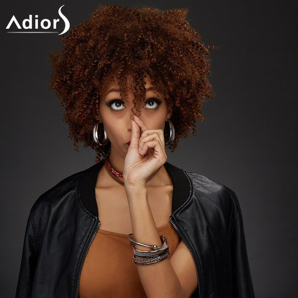Adiors Synthetic Short Neat Bang Towheaded Curly Wig adiors hair neat bang short afro curly synthetic wig