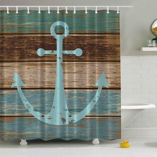 Anchor Print Waterproof Polyester Shower Curtain - COLORMIX 180*180CM