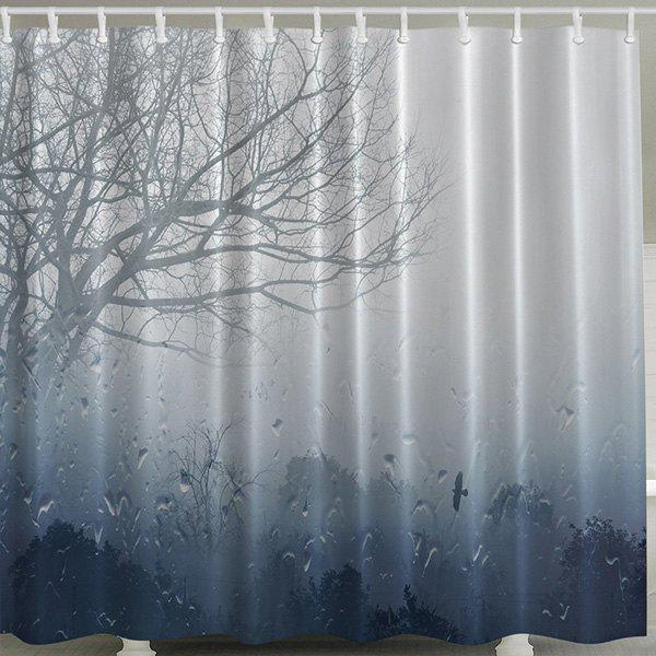 Waterproof Polyester Shower Curtain with Hook - COLORMIX