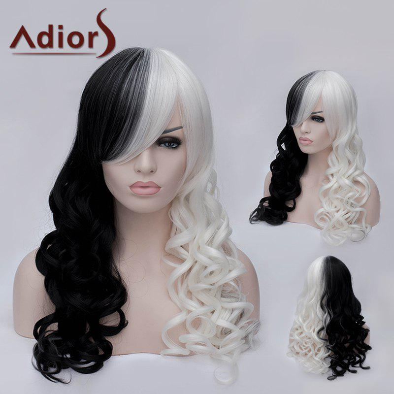 Adiors Side Bang Long Double Color Fluffy Wavy Party Synthetic Wig adiors long side bang color mixed wavy synthetic party wig