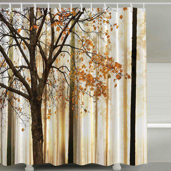 Fall Maple Waterproof Mildewproof Shower Curtain COLORMIX