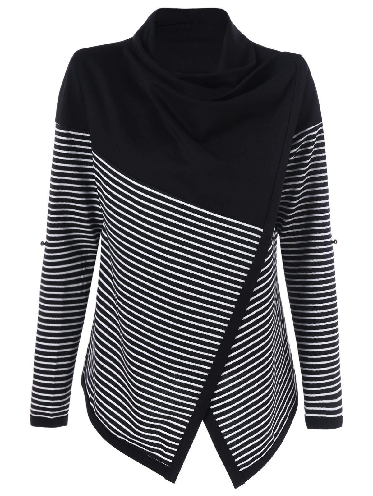 Cowl Neck Surplice Striped Knitwear синтезатор casio lk 265 61клав
