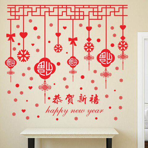 2018 papier peint mobile style f te chinoise rouge in stickers muraux online store best for. Black Bedroom Furniture Sets. Home Design Ideas