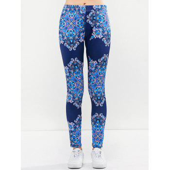 Graphic Elastic Waist Leggings - S S