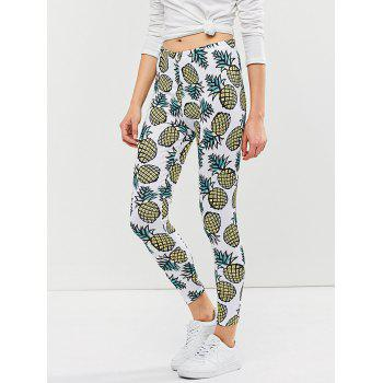 Skinny Pineapple Print Leggings