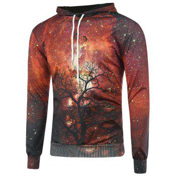 3D Galaxy Tree Branch Long Sleeve Hoodie