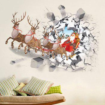 Christmas Milu Deer Car Wall Stickers