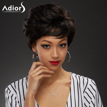 Elegant Short Black Brown Capless Fluffy Curly Women's Synthetic Wig
