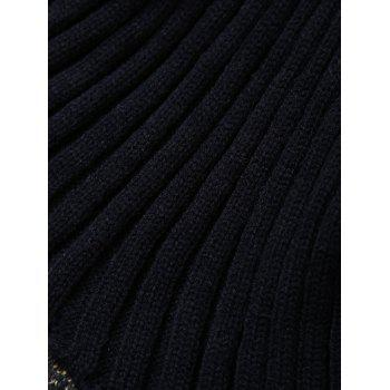 Broken Hole Kids' Knitted Mermaid Blanket Throw - BLACK
