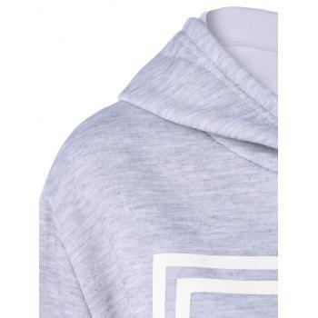Hooded Letter Graphic Sweatshirt with Jogger Pants - M M