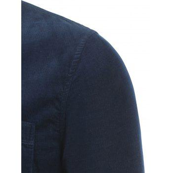Corduroy Pocket Button Down Shirt - PEARL INDIGO BLUE PEARL INDIGO BLUE