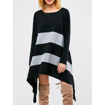 Asymmetrical Two Tone Longline T-Shirt