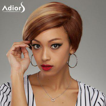 Adiors Side Parting Short Bob Straight Colormix Synthetic Wig
