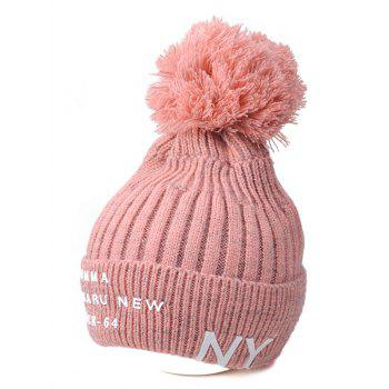 NY Rubber Knit Ribbed Pom Hat