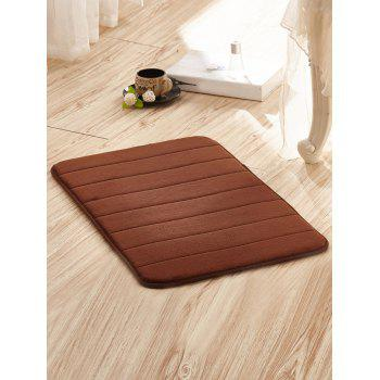 Fleece Fabric Bathroom Antislip Door Floor Carpet - COFFEE 50CM*80CM