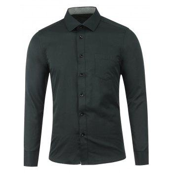 Plain Breast Pocket Button Up Shirt