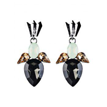 Faux Crystal Embellished Water Drop Dangle Earrings