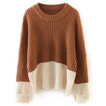 Two Tone Ribbed Sweater