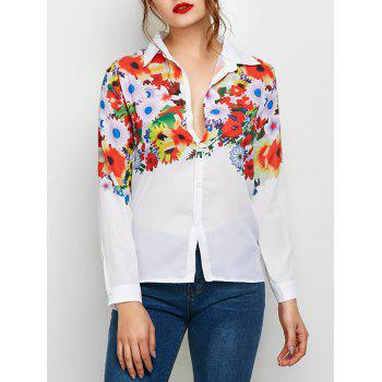 Bright Floral Print Fitting Shirt