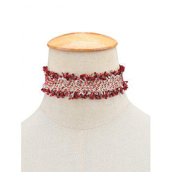 Fringed Knitted Choker Necklace