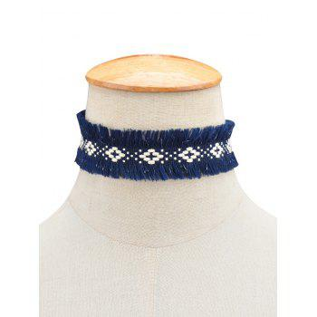 Fringed Woven Choker Necklace