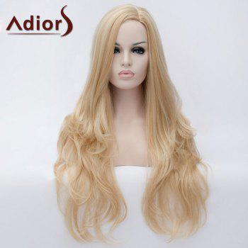 Adiors Side Parting Long Fluffy Slightly Curled Party Synthetic Wig