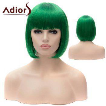 Adiors Full Bang Short Bob Silky Straight Party Synthetic Wig