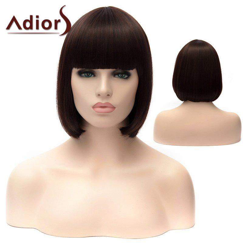 Adiors Full Bang Short Silky Straight Bob Party Synthetic Wig 50 pcs micro usb type b female socket 180 degree 5 pin smd smt jack connector