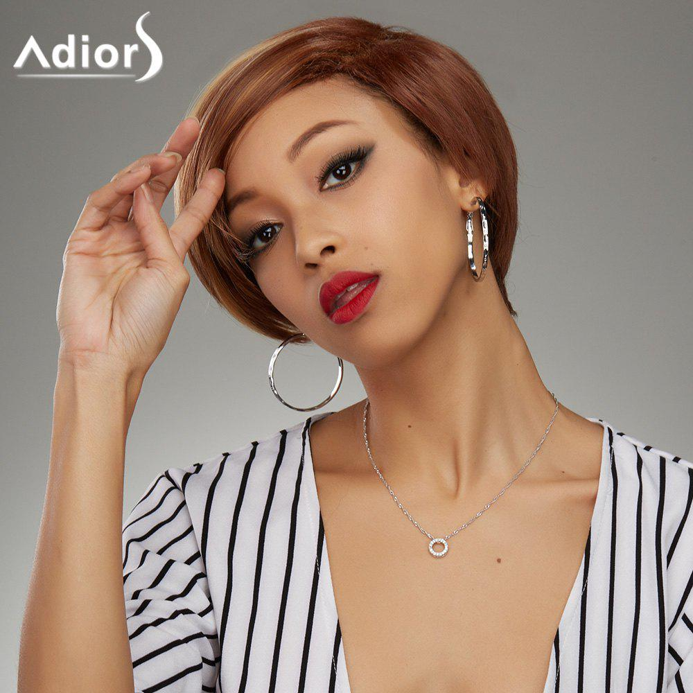 Soft Straight Blonde Highlight Synthetic Fashion Short Haircut Wig For WomenHair<br><br><br>Color: COLORMIX