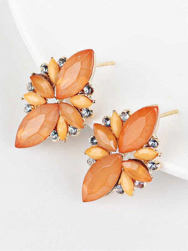 Candy Color Faux Gems Embellished EarringsJewelry<br><br><br>Color: ORANGE