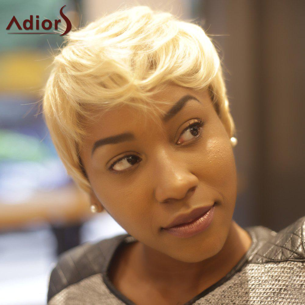 Colormixed Adiors Short Layered Straight Synthetic Wig - COLORMIX