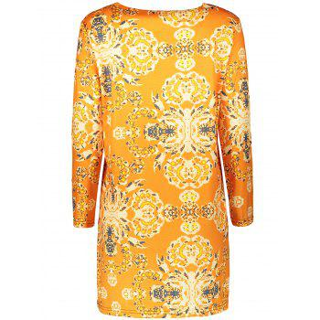 Plus Size Long Sleeve Fitted Dress - 2XL 2XL