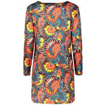 Plus Size Flower Dress With Pocket - 2XL 2XL