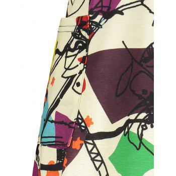 Plus Size Abstract Graffiti Mini Dress - OFF WHITE OFF WHITE