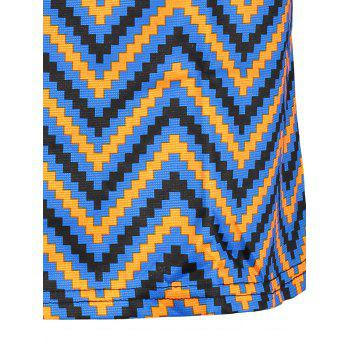 Plus Size  Colored Zigzag Sheath Dress - 2XL 2XL
